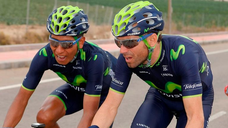 Nairo Quintana, left, and Alejandro Valverde offer Movistar two potential options for victory at the Vuelta a Espana