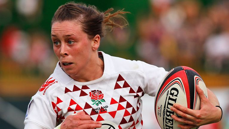 Natasha Brennan in action for England Sevens