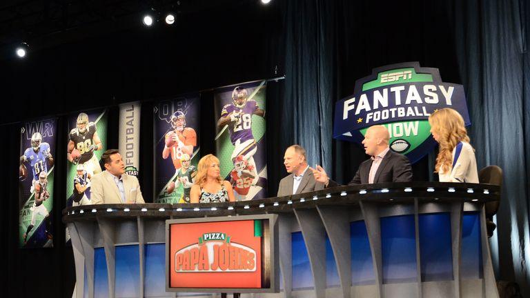 NFL Fantasy Football Live team on set ( ESPN Images)