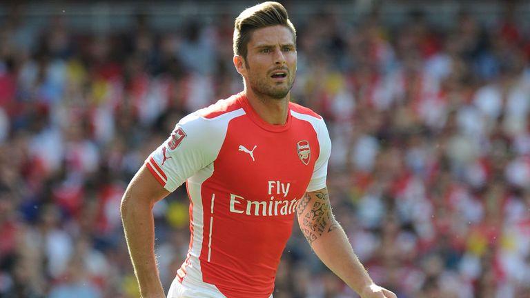 Olivier Giroud: Arsenal striker in action against Monaco