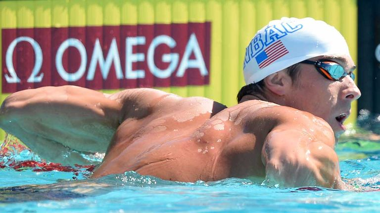 Michael Phelps: Edged out at the US Swimming Championships