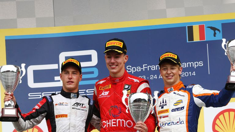 The Feature Race podium (GP2 Series Media)