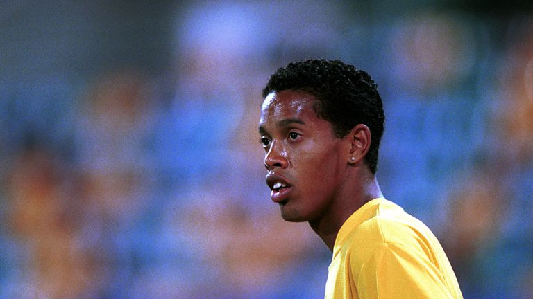 A young Ronaldinho began his career with childhood side Gremio, where his brother Roberto played in the senior team
