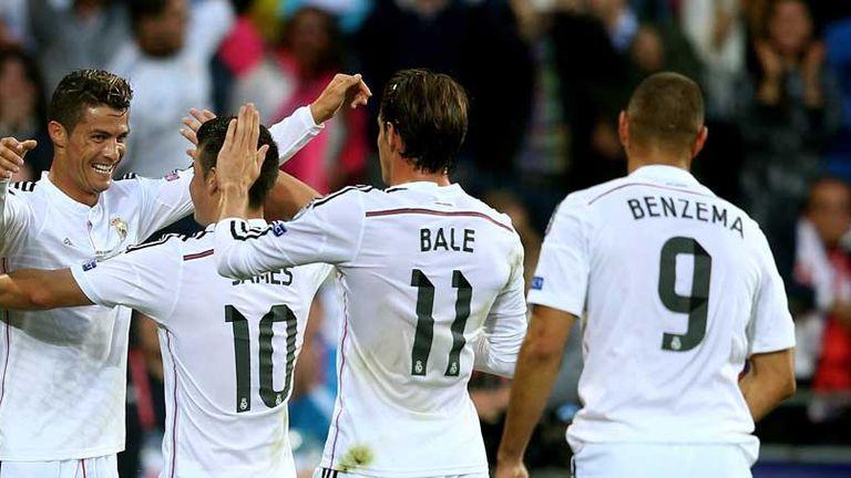 Bale celebrates with Ronaldo
