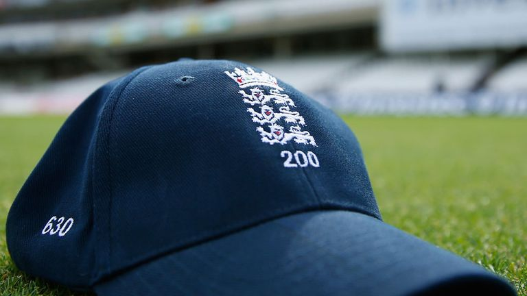 England cap celebrating the 200th live England Test on Sky Sports