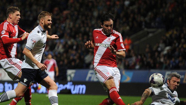 Kike: Amongst the goals again for Boro