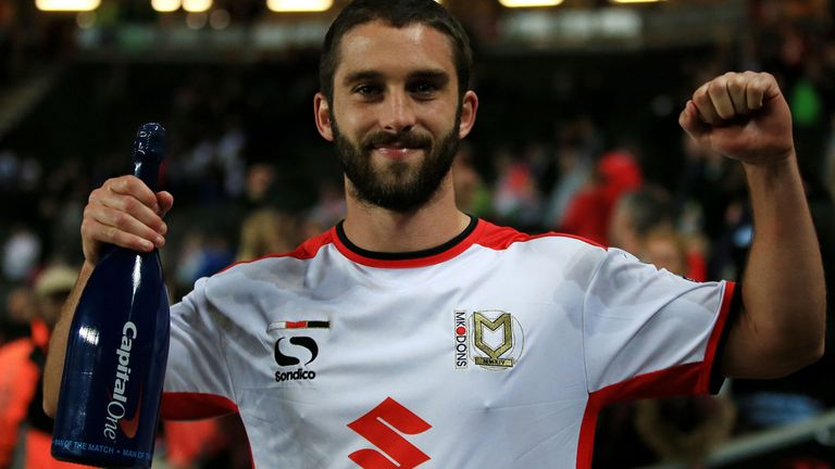 Will Grigg: MK Dons man impressed against Manchester United