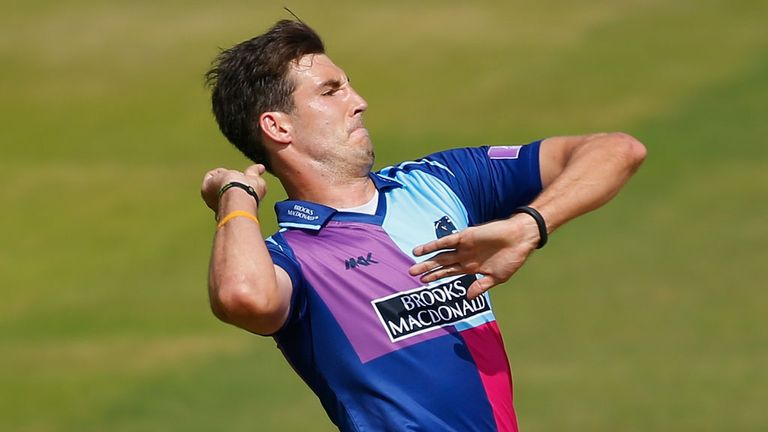 Steven Finn: bowling against Surrey in the Royal London One-Day Cup