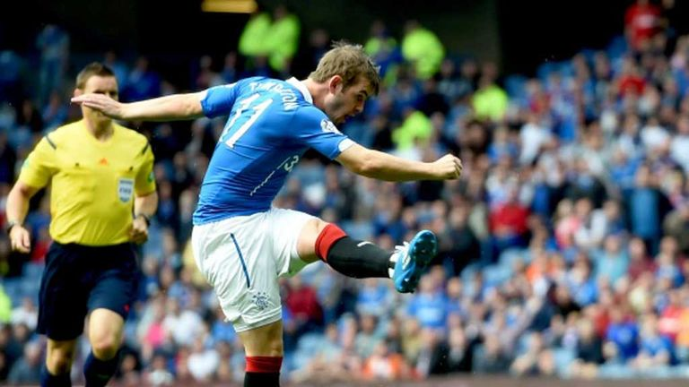 David Templeton levels for Rangers early in the second half