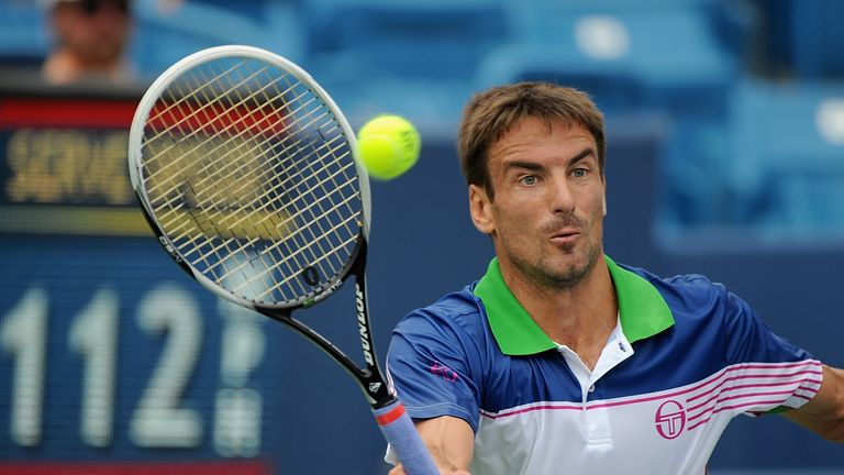 Tommy Robredo: Overcame Jack Sock after winning a tie break in the first set