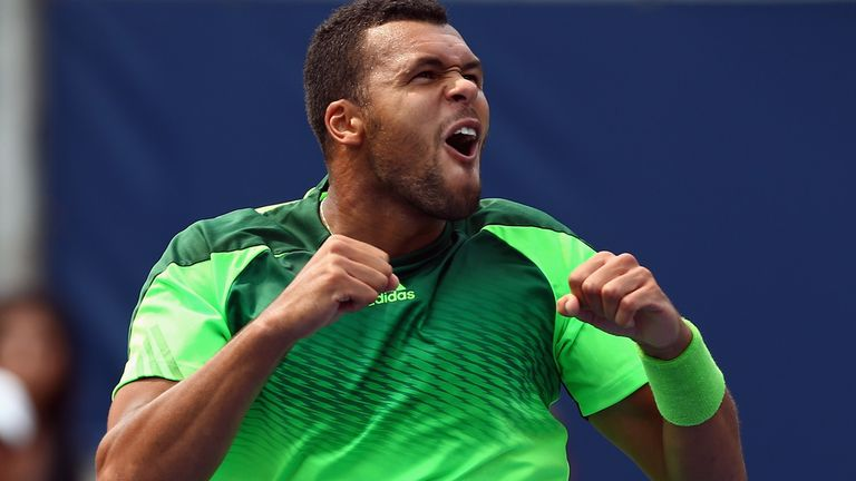 Way to go, Jo: Tsonga's renewed animation was key to his Toronto triumph, says Barry