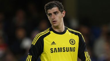 Thibaut Courtois  was beaten twice by  Papiss Cisse at St James
