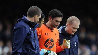 Hugo Lloris: The French international returned to the field of play after suffering a concussion against Everton at Goodison Park last season.