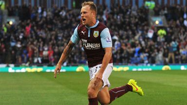 Scott Arfield: Celebrates his goal for Burnley