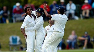 Nagarajan Niranjana (left): four wickets for India