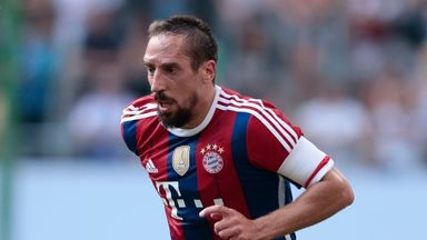 Bayern are expecting Franck Ribery to be absent for three games