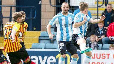 Gary Fraser fires Partick in front against Dundee after just four minutes at Dens Park