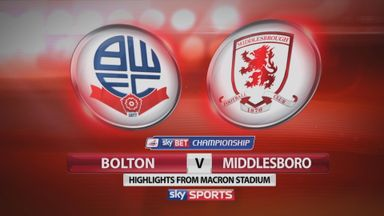 Bolton 1-2 Middlesbrough