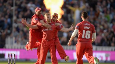 Andrew Flintoff: Lancashire all-rounder dismissed Ian Bell in the T20 Blast final