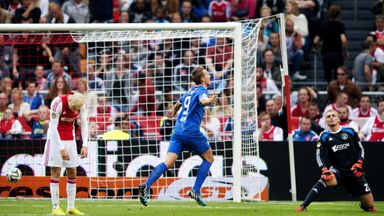 Luuk de Jong: Celebrates goal for PSV at Ajax