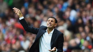 Gus Poyet: Barks instructions during 1-1 draw