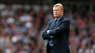 Ronald Koeman: The Dutchman was nominated for September's Manager of the Month award.