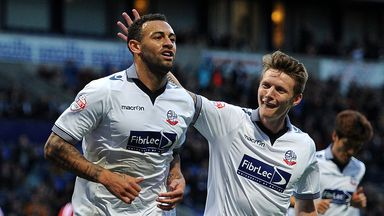 Craig Davies (left): Impressed Bolton boss Neil Lennon