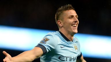 Stevan Jovetic: The Manchester City forward is in confident mood after his two goals against Liverpool.