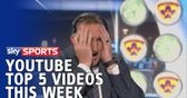 Sky Sports YouTube top five: Ice bucket challenges and a harsh call for a keeper
