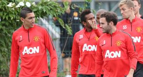 Premier League: Angel di Maria and Manchester United train ahead of Burnley clash