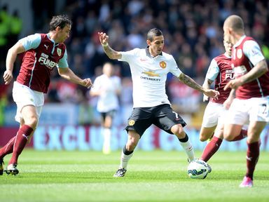 Angel Di Maria in action on his Manchester United debut