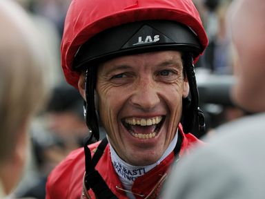 Richard Hughes smiles after winning the Pinsent Masons Lowther Stakes