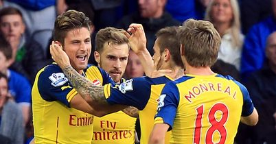 Arsenal: Came from two goals down to hold Everton