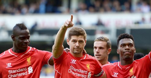 Steven Gerrard: Scored contentious penalty for Liverpool