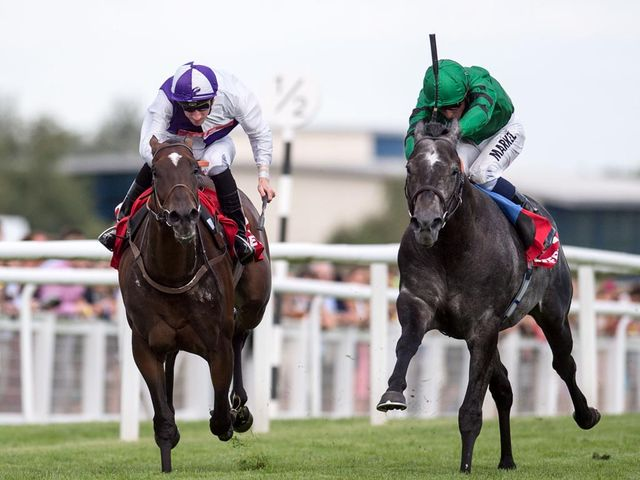 Breton Rock and Martin Lane get the better of Gregorian and William Buick to land the spoils.