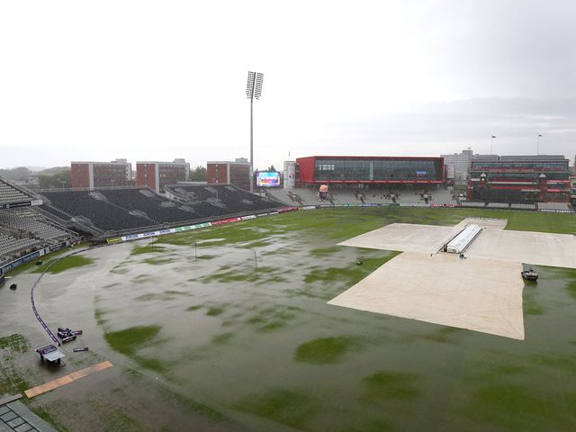 A drenched Old Trafford will try and stage the game on Saturday