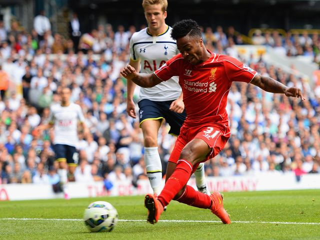 Raheem Sterling scored from a narrow angle to set the Reds on their way