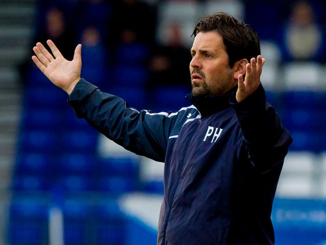 Dundee manager Paul Hartley.watched his side draw 0-0