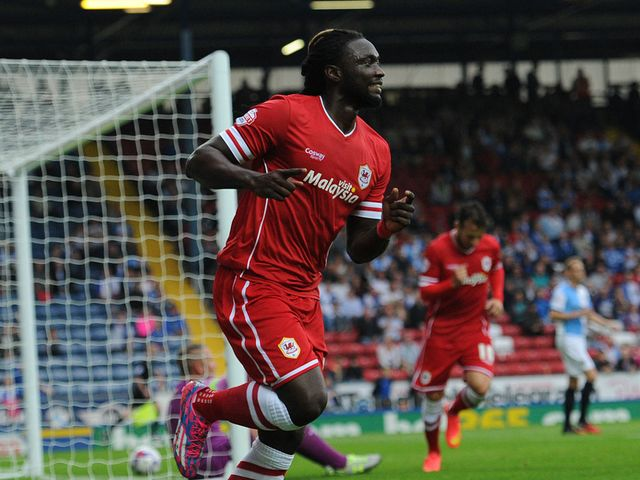 Kenwyne Jones scored twice for Cardiff