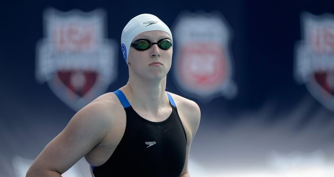Katie Ledecky: Set the 400 meters freestyle world record on California