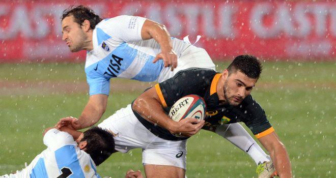 Damian de Allende: made a winning debut for South Africa