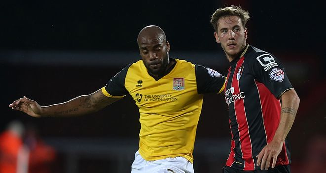 Dan Gosling (r): Competes with Northampton's Emile Sinclair