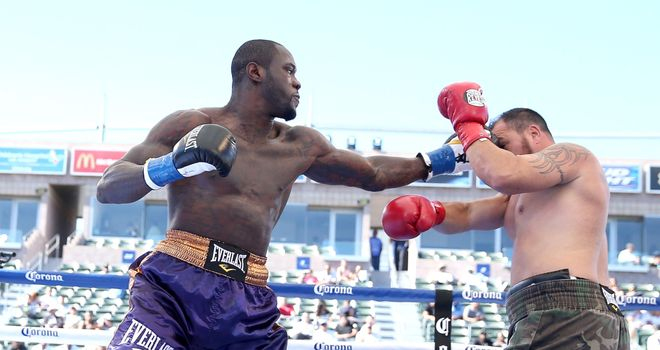Deontay Wilder: won his 32nd win with his 32nd knockout