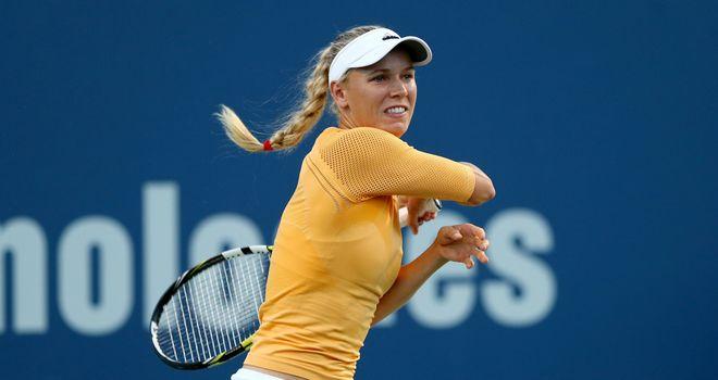 Caroline Wozniacki needed three sets to beat Timea Bacsinszky
