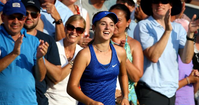 CiCi Bellis; Youngest woman to win match at US Open since Anna Kournikova
