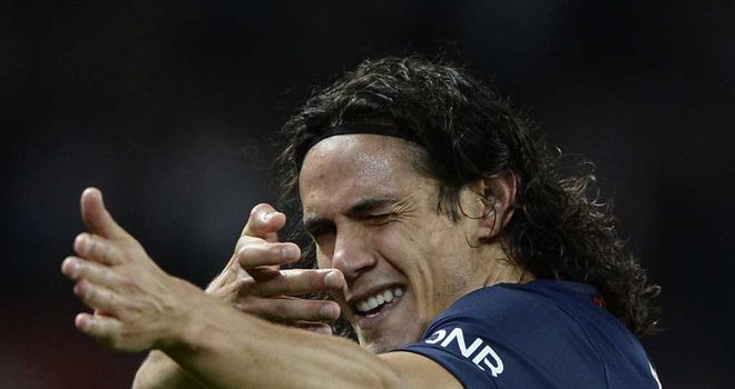Paris Saint-Germain's Uruguyan forward Edinson Cavani was on the scoresheet