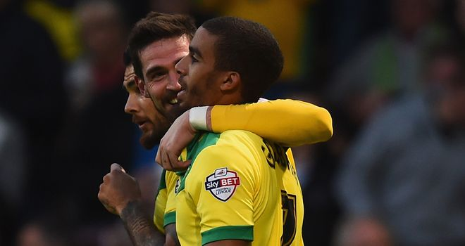 Lewis Grabban: Celebrates scoring a goal against Blackburn
