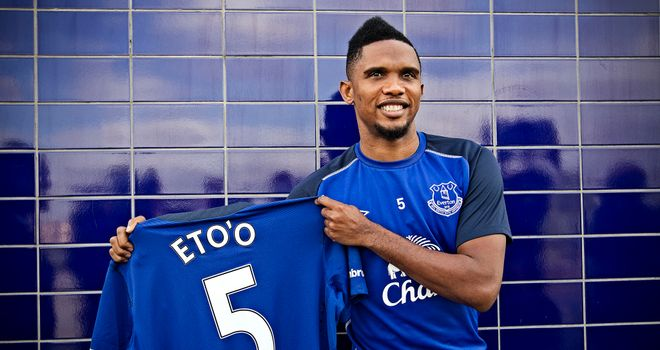Samuel Eto'o: Presented at Finch Farm on Wednesday