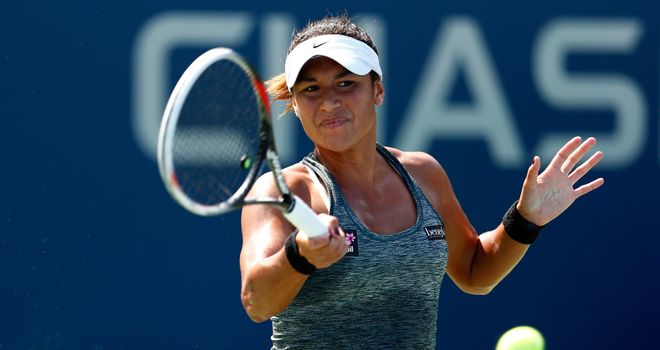 Heather Watson: Still waiting for her first win at the US Open