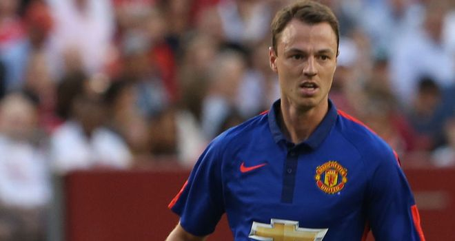 Jonny Evans during United's pre-season fixture against Inter Milan in Maryland this week